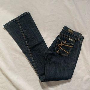 """David Kahn Nikki Jeans Size 27 Inseam 35"""" Cotton"""
